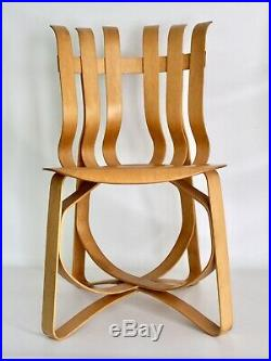 Knoll Gehry Vtg Mid Century Modern Hat Trick Wood Dining Side Desk Chair DWR