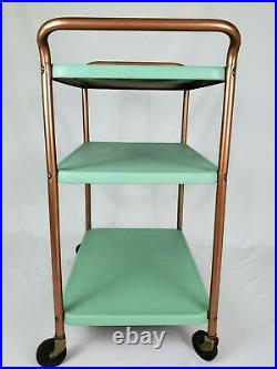 Mid-Century Cosco Kitchen Trolley Cart Three Tier Rolling Bar Stand Vintage