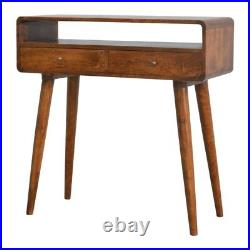 Mid Century Style Console Table / Dressing Table Solid Wood Dark Finish