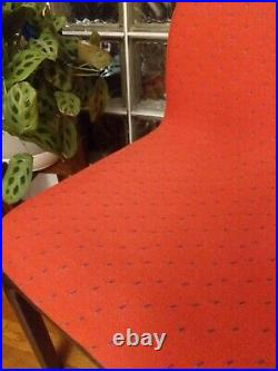 VINTAGE signed Pair GAE AULENTI for KNOLL Modern Italian watermelon red chairs