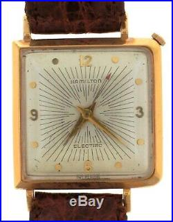 Vintage 1950s Hamilton Electric Victor 10K Gold Filled Watch Cal 500 Asymmetric
