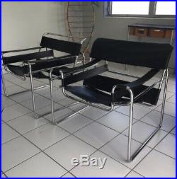 Vintage Marcel Breuer B3 Wassily lounge chairs (pair)