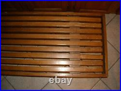 Vintage Mid Century Modern Bench or Coffee Table With Wood Slats