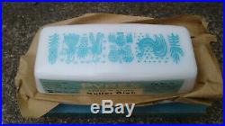 Vintage Pyrex Amish Butterprint Butter Dish Nos New In Box Nib Rare Htf Label