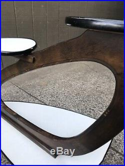 Vtg 1950's Atomic Mid Century Modern Plant Stand Wood & Formica Eames Era